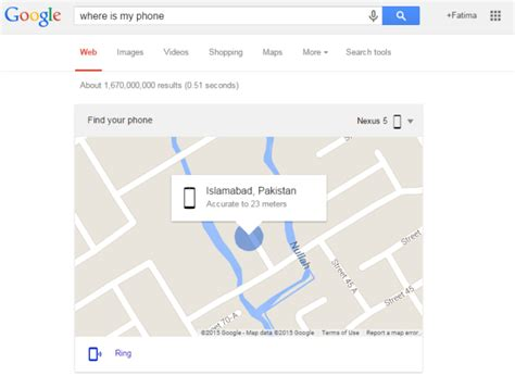 where my android use to locate your misplaced android phone