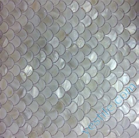 Tile Murals For Kitchen Backsplash fish scale shaped natural mother of pearl mosaic tiles