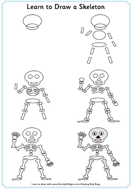 doodle to learn learn to draw a skeleton