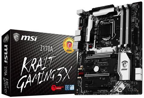 Mainboard Msi Z170a Krait Gaming R6 Siege Atx Lga 1151 1 msi k 252 ndigt mainboard z170a krait gaming 3x an hardwareluxx
