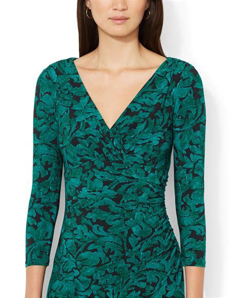 ralph lauren green floral dress
