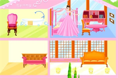 big pink dollhouse decoration game decorating games