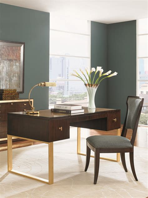 Teak Außenmöbel Clearance by Sligh Bel Aire Writing Desk With Gold Tipped Top