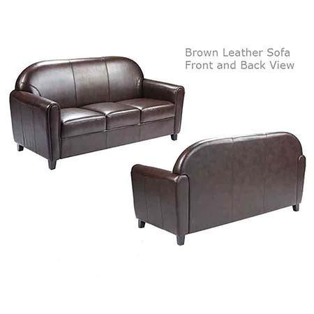 Leather Couches Utah by Brown Leather Sofa All Out Event Rental