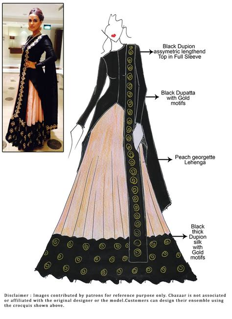 fashion illustration lehenga diy neha dhupia choli lehenga lengha