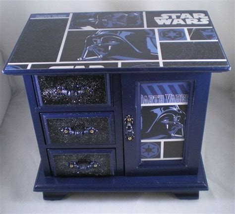 star wars dresser ideas reserved star wars navy darth vader upcycled jewelry box
