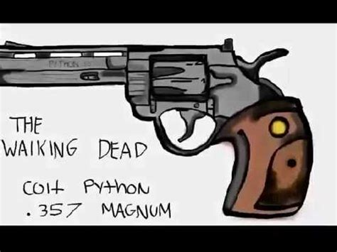 Walking Dead Revolver amc s the walking dead rick grimes revolver colt python 357 magnum speed drawing