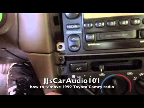 how to remove 1999 toyota camry radio youtube