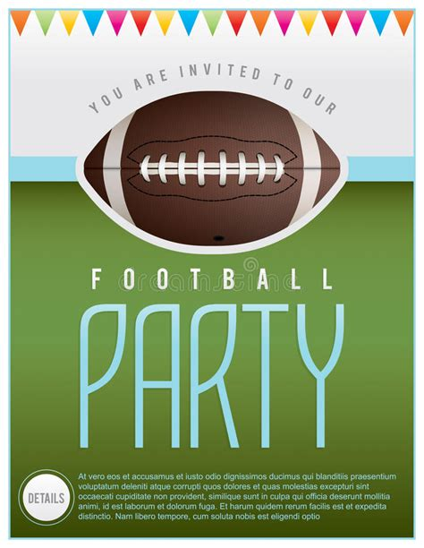 Football Party Flyer Stock Vector Illustration Of Party 42329530 Football Banquet Invitation Template