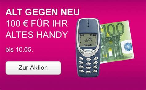 telekom verteilt  euro fuers alte kaputte handy