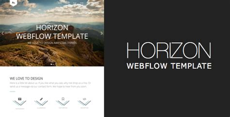 themeforest webflow horizon one page and multipage webflow template by zorbix