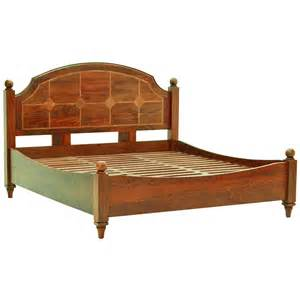 Wooden bed frame the flagstone bedframe solid