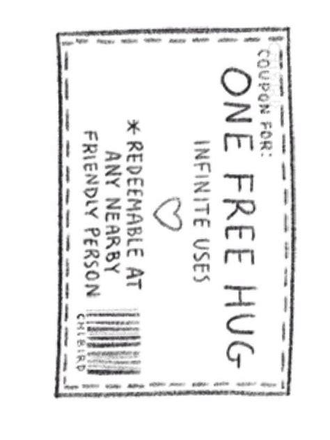 printable free hug coupons free hug coupon hugs pinterest coupon and free hugs