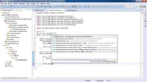 spring mvc 4 fileupload download hibernate mysql exle spring framework 2 5 tutorial for beginners with exles
