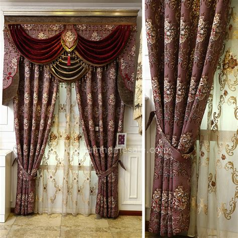 victorian draperies victorian living room curtain in purple color chenille