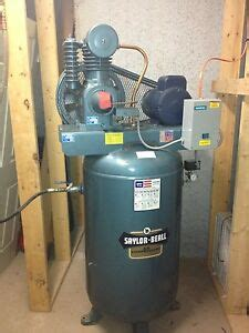 saylor beall mfg two stage air compressor electric motor driven unit vt 735 80 ebay