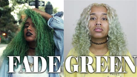 how to fade green hair dye or other semi permanent hair