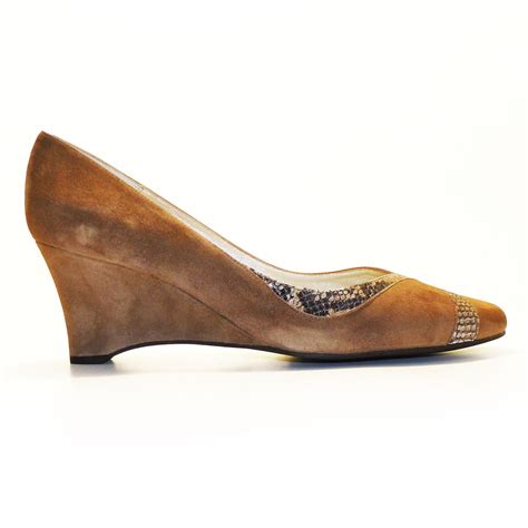 beautiful suede wedge with animal print cinderella shoes