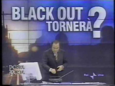 raiuno porta a porta sequenza raiuno 29 09 2003 promo porta a porta black out