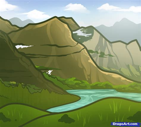 Drawing Mountains by How To Draw Mountains For Step By Step Landscapes