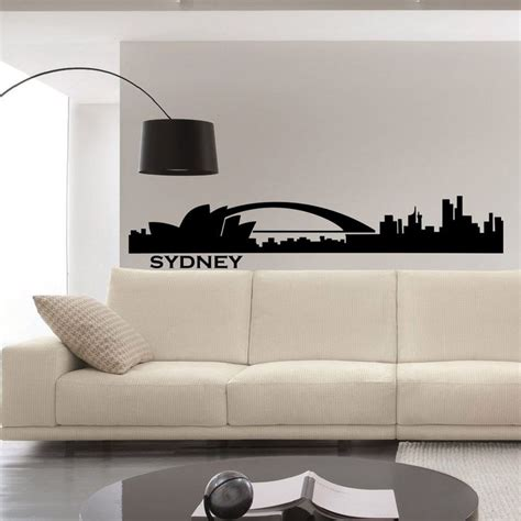 sydney skyline wall decal vinyl sticker city silhouette