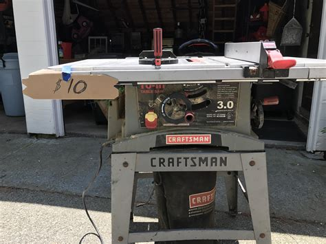14 inch table saw for sale yard sale find 10 craftsman table saw in great
