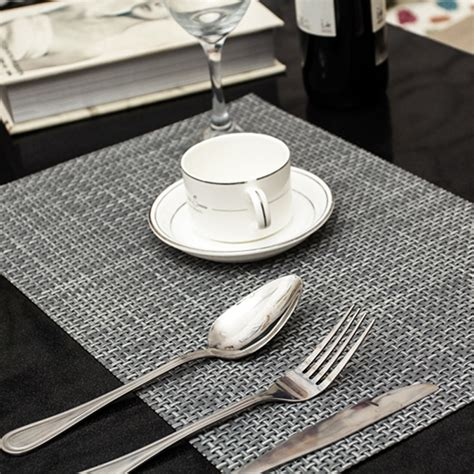Dining Table Mat 4 Pcs Lot Weave Placemat Fashion Pvc Dining Table Mat Disc Pads Bowl Pad Coasters Waterproof