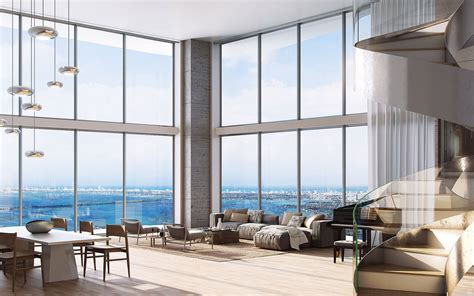 Floor To Ceiling Windows Apartments Nyc by Interior Of The Apartment Offers Stunning Views Of City