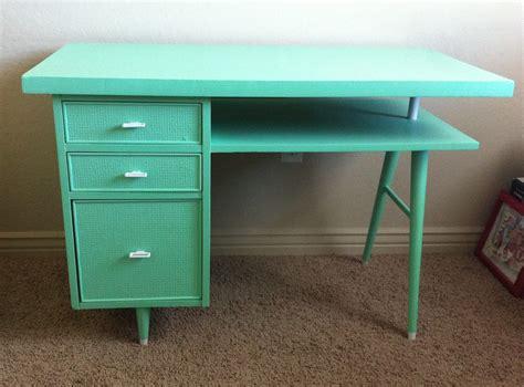 seafoam green desk ticket tuesday mint green mid century desk