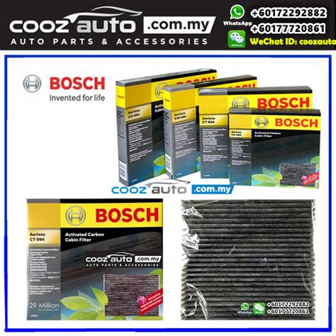 Best Cabin Filter Brand by Mitsubishi Fortis Bosch Activated Carbon Cabin Air Cond Aircon Replacement Filter
