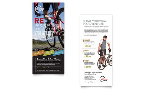 Bike Rentals Mountain Biking Rack Card Template Design Bicycle Cards Template