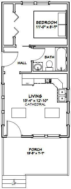 excellent floor plans 14x28 tiny house 14x28h3a 391 sq ft excellent
