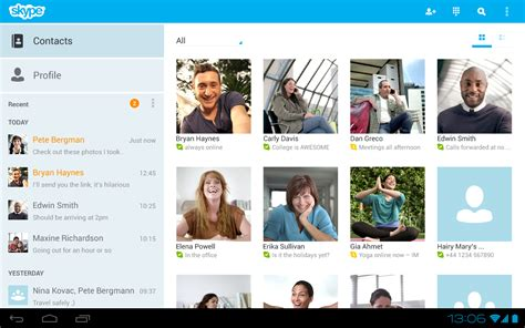 skype on android skype v3 0 une version optimis 233 e pour tablettes android