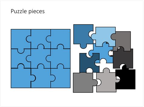 powerpoint template jigsaw puzzle piece falling with puzzle pieces in powerpoint slidemagic