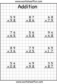 addition regrouping free printable worksheets worksheetfun