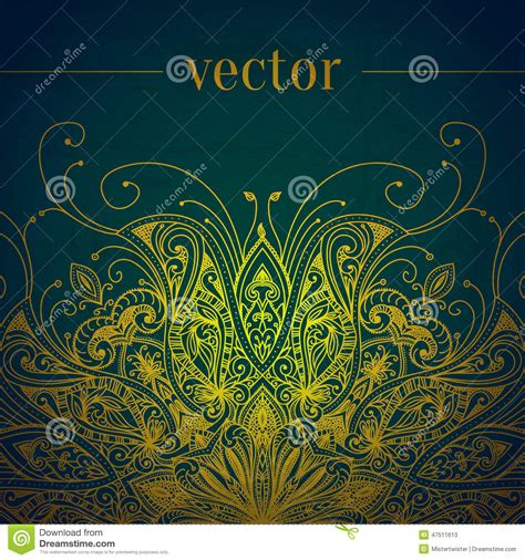 Wedding Banner Border by Green Abstract Vector Background Lace Border Stock Vector