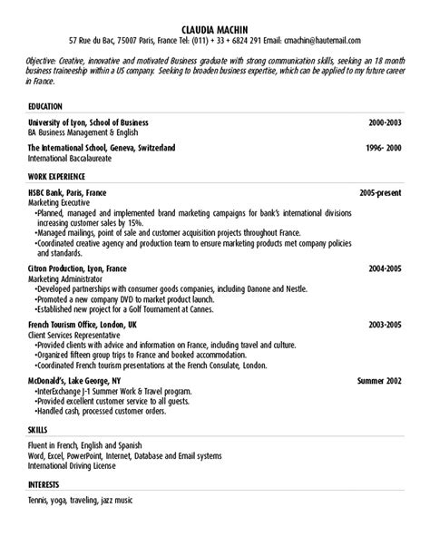 objective exle resume objective statement exle 28 images objective