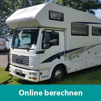 Auto Versicherung Online Berechnen by Infos Zur Wohnmobil 173 Versicherung Wohnmobilversicherung