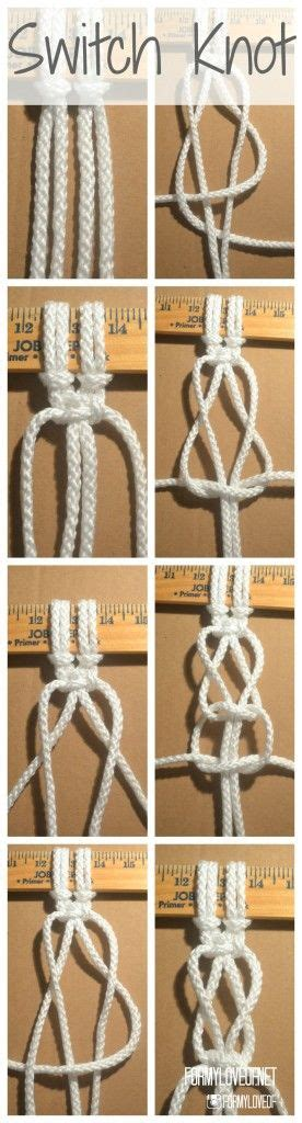 How To Macrame Knots Step By Step - the 25 best macrame knots ideas on macrame