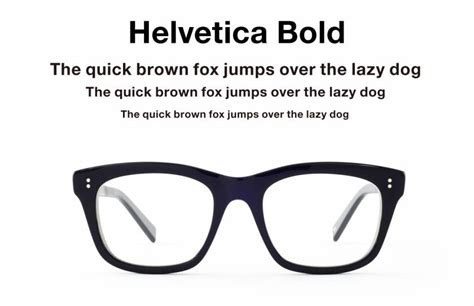 helvetica for your nose eyeglasses inspired by type
