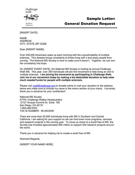 Request Letter Format For Blood Donation C General Donation Request Letter In Word And Pdf Formats