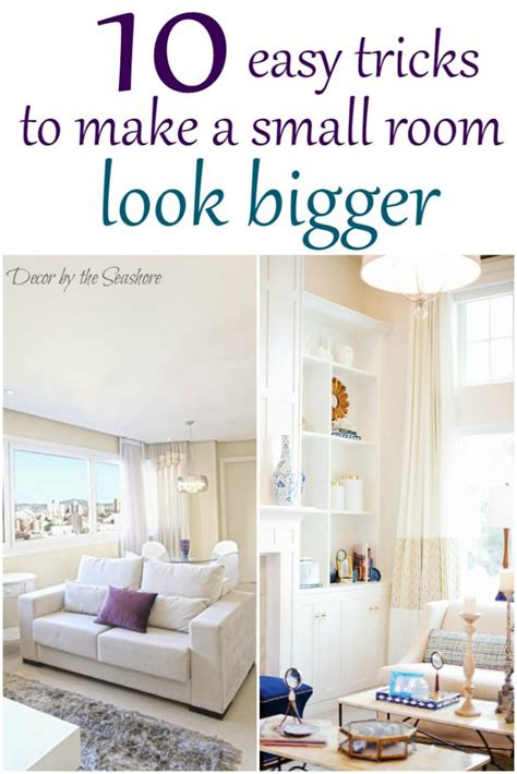 How To Make Room Look Bigger | how to make a small room look bigger decor by the seashore