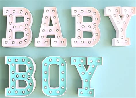 Baby Marquee Letters customizing marquee letters for a baby shower or nursery