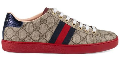 The Best Gucci Seprem 1 Lyst Gucci Ace Gg Supreme Low Top Sneaker