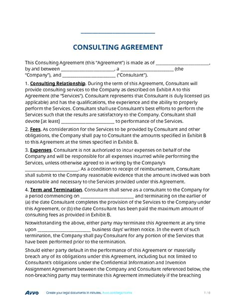 Fill Out A Consulting Agreement Form Online For Free Production Services Agreement Template