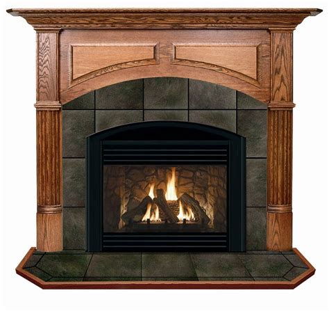 manchester arched flush fireplace mantel in cherry