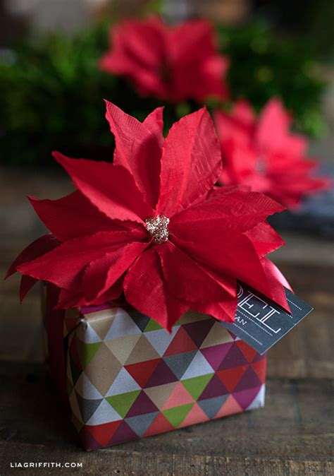 Poinsettia Paper Craft - how to diy paper napkin poinsettia tutorial