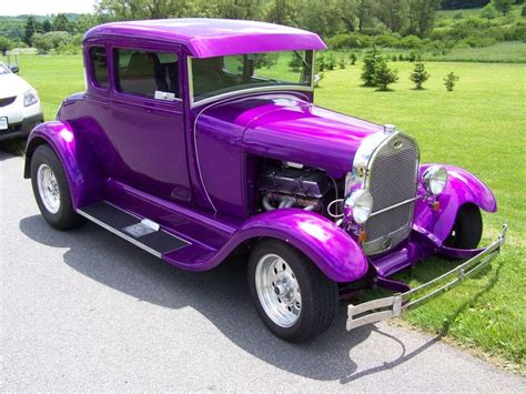 purple car purple