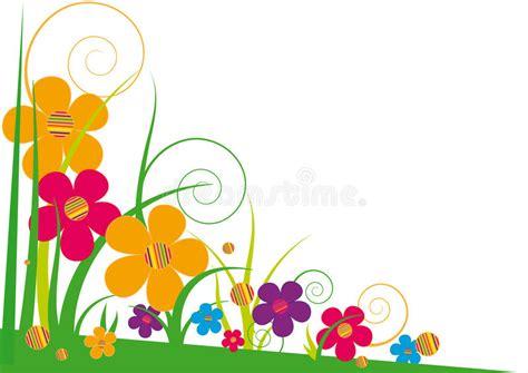 clipart fiori stilizzati fiori stilizzati luminosi illustrazione vettoriale