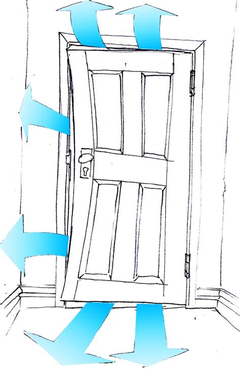 Front Door Draught Proofing Drafty Door Illustration